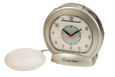 Sonic Alert SBA475 Vibrating Analogue Alarm Clock