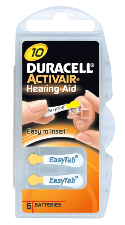 Duracell Activair Hearing Aid Batteries Size 10